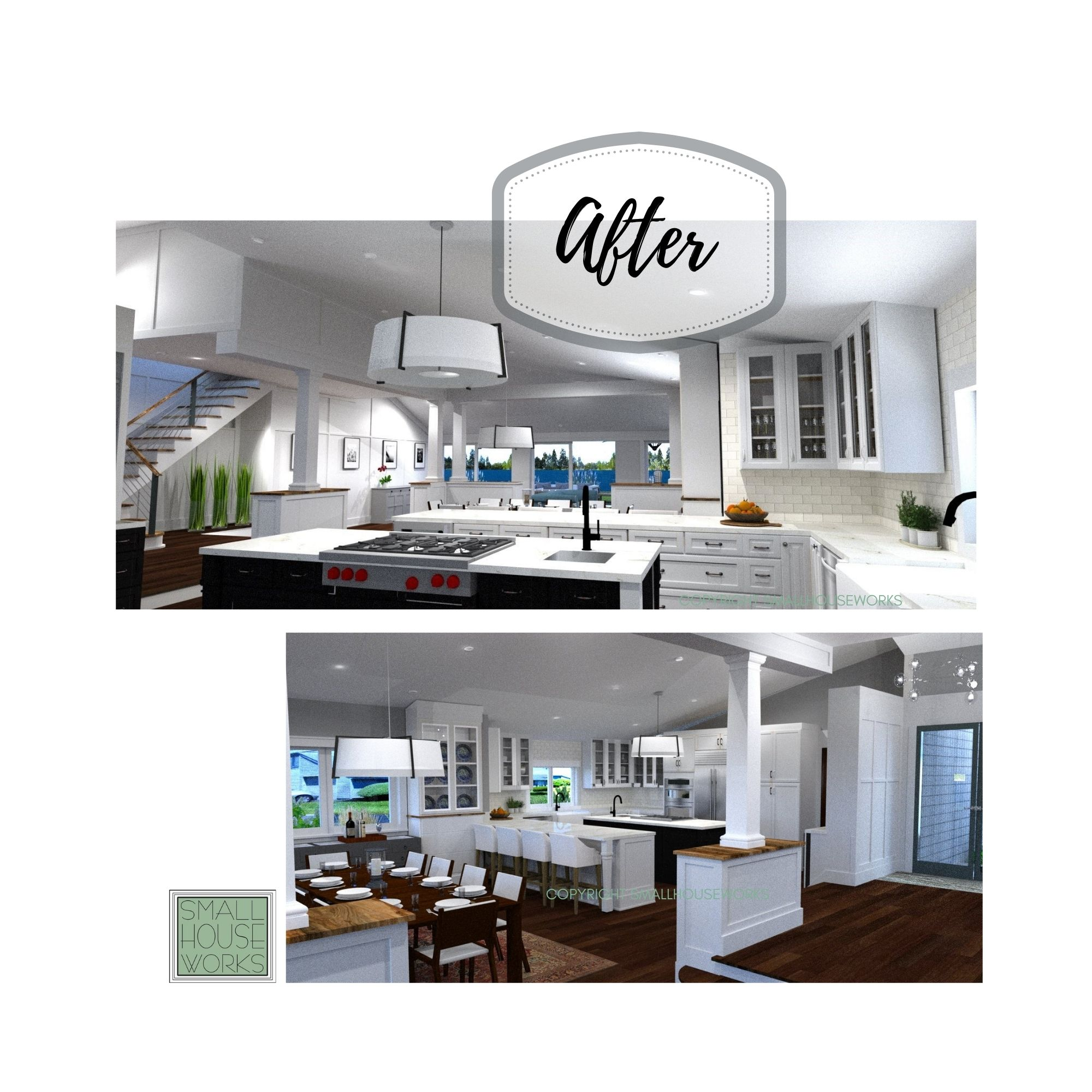 AFTER- MID SIZE KITCHEN MAKEOVER