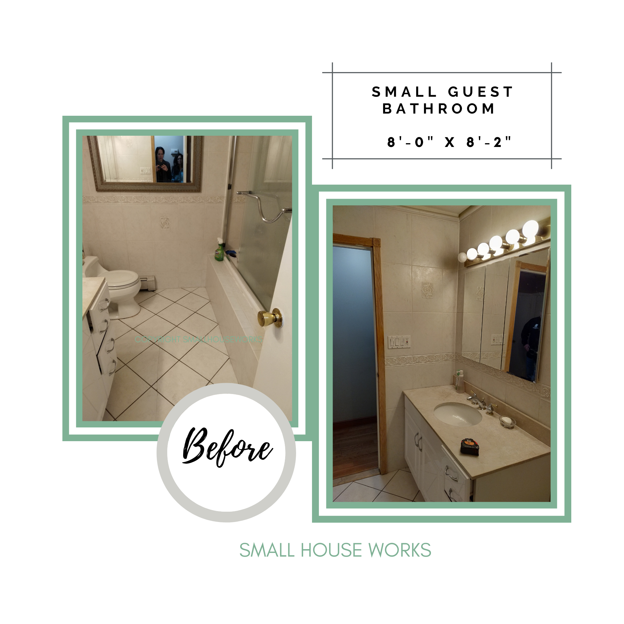 BEFORE-SMALL BATHROOM MAKEOVER