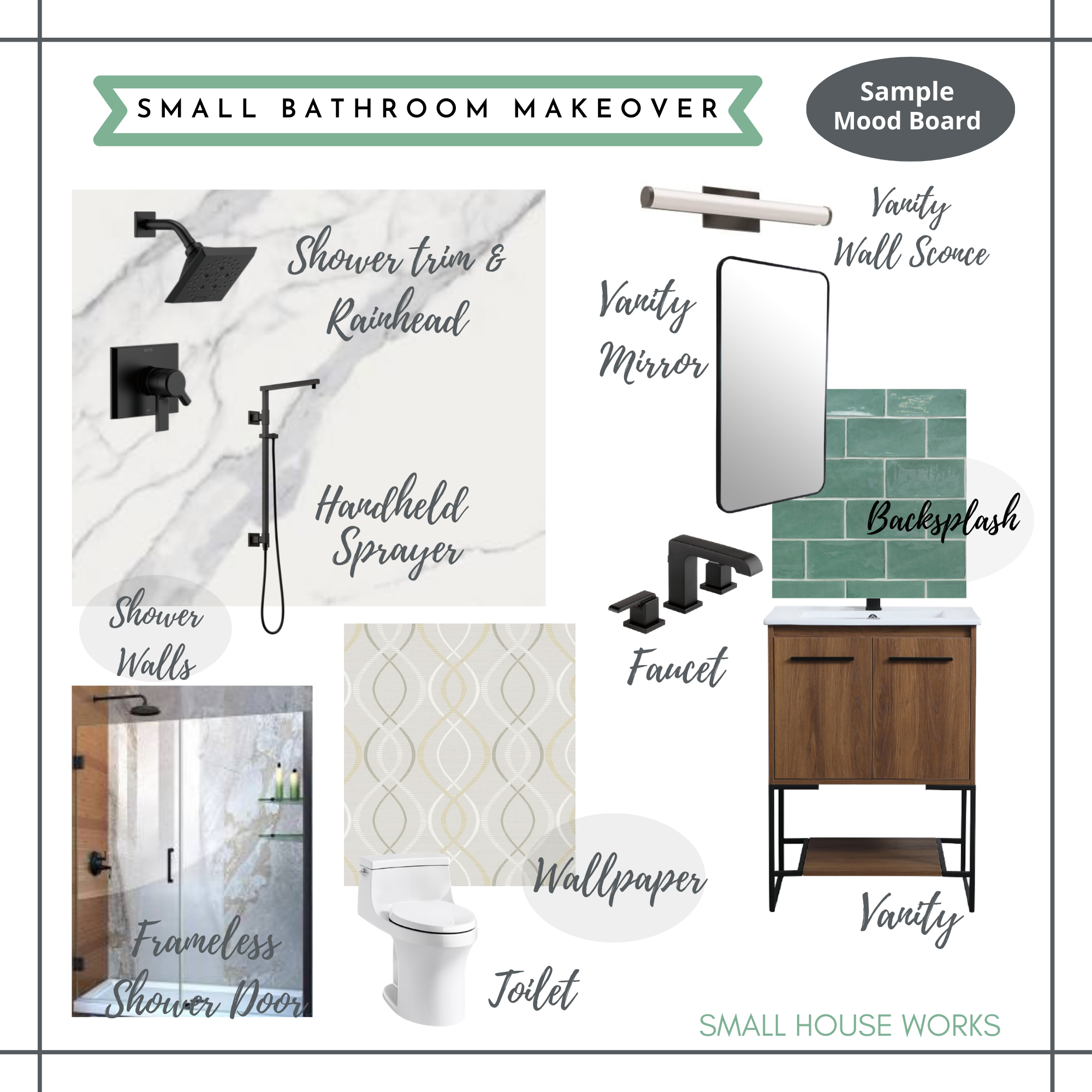 SAMPLE DESIGN| MOOD BOARD-SMALL BATHROOM