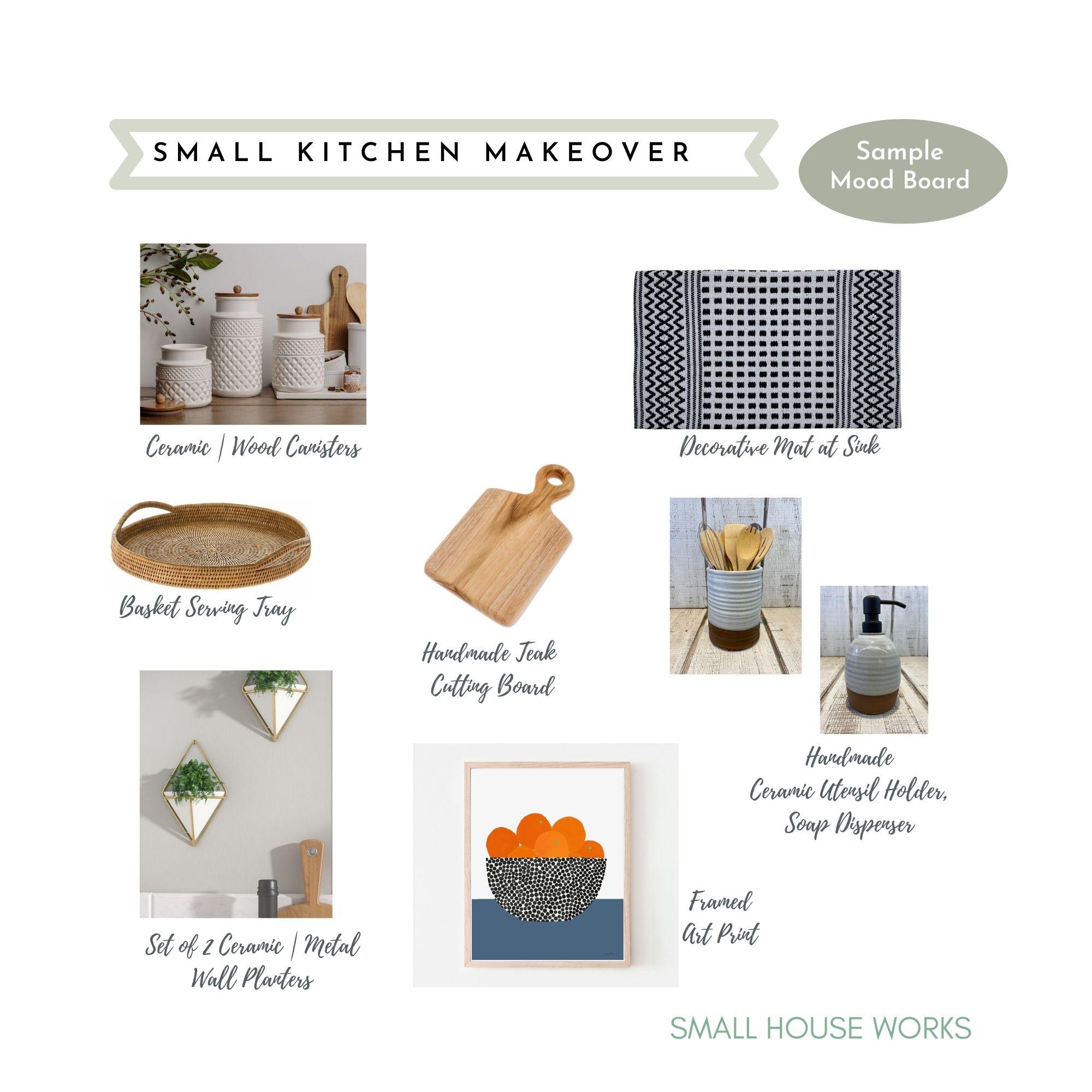 SAMPLE DESIGN|MOOD BOARD- DECOR FOR SMALL KITCHEN MAKEOVER