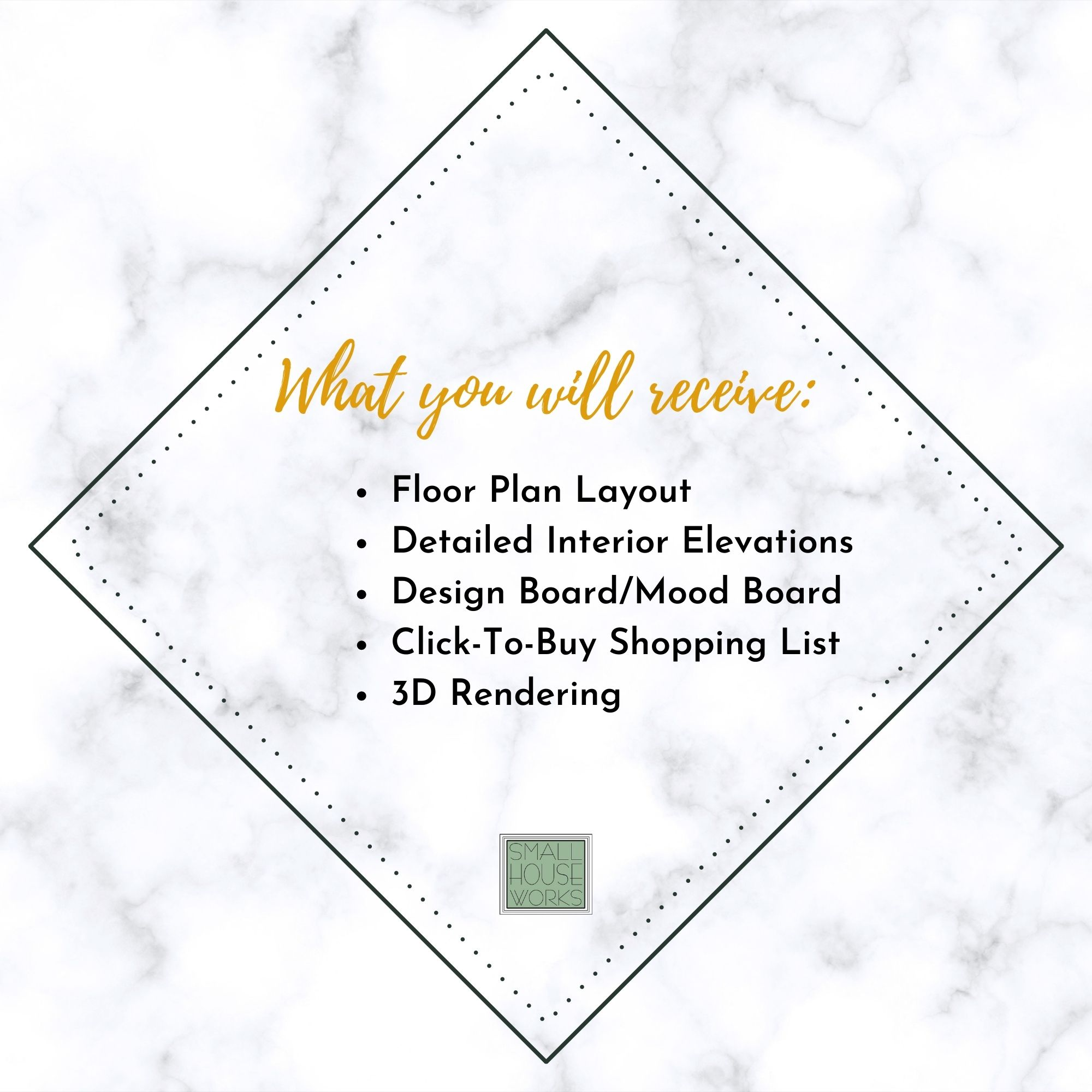 WHAT YOU WILL RECEIVE- ALL E DESIGN SERVICES