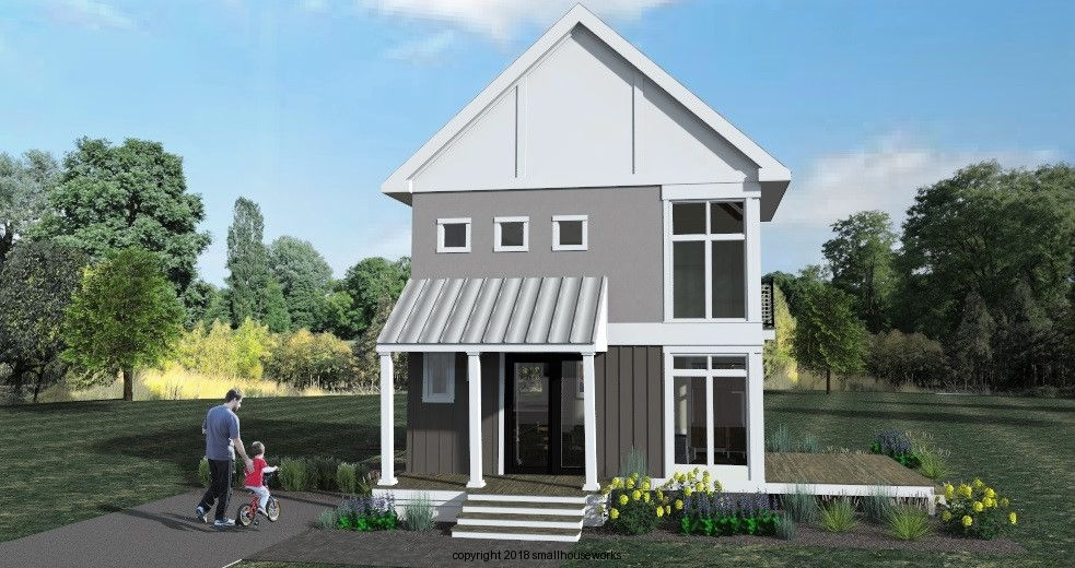 Front Elevation of The Modern Farmhouse Plan