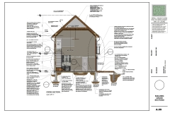 Cross Section drawing example.  To show an example of The Modern Farmhouse Plans content
