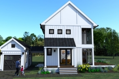 FRONT VIEW- DESIGN 3- THE MODERN FARMHOUSE PLAN