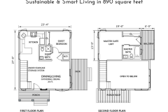 Floor Plans for The Modern Farmhouse Plan