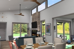 Interior View looking from-Dining-Room-Mid-Century-Ranch