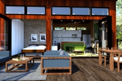 1_VIEW-FROM-DECK-STEPS-OFF-GRID-MODERN-CABIN