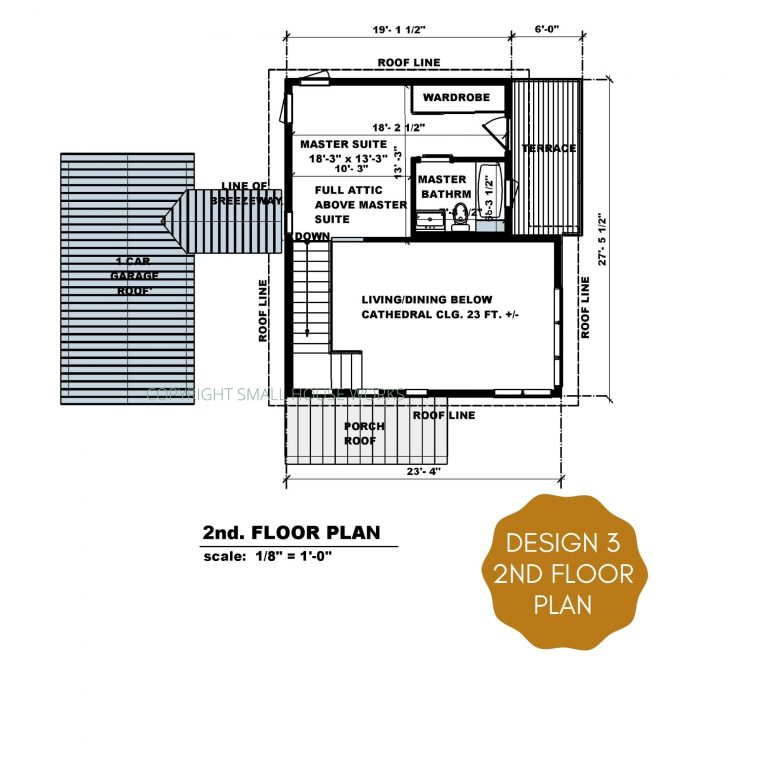 floor plan of design 3 of the modern farmhouse plan