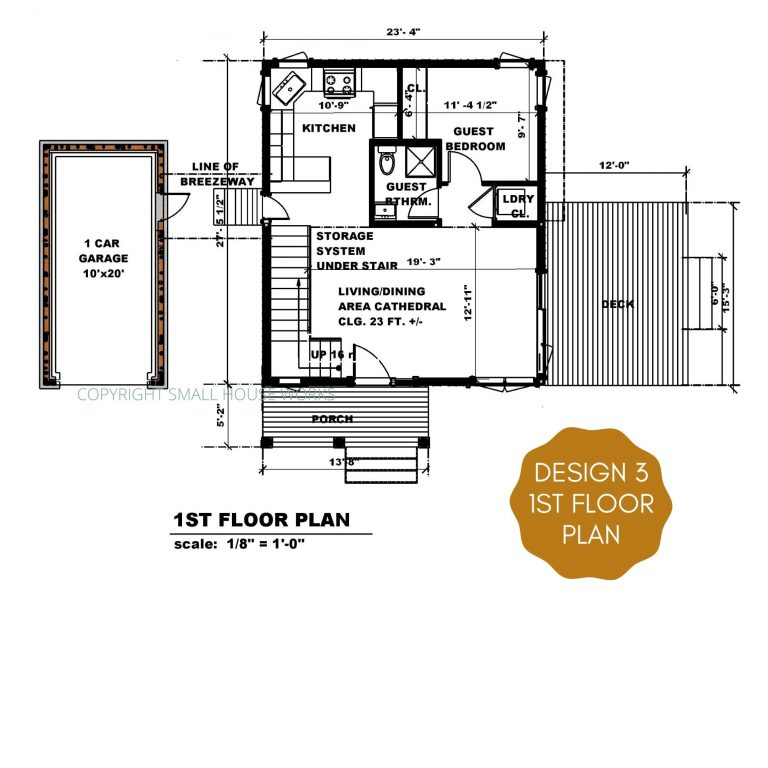 floor plan view of design 3 of the modern farmhouse plan