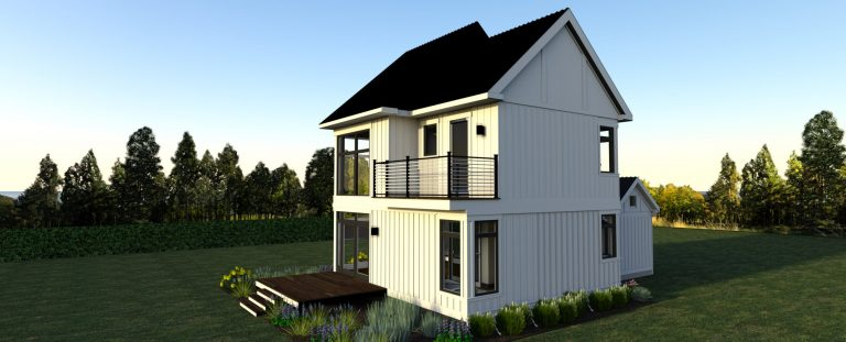 3d rendering of the modern farmhouse design 3